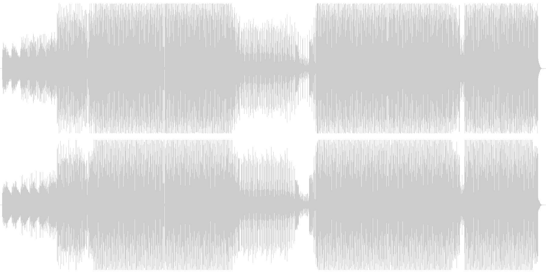 ファション系イベント向けかっこいいテクノの未再生の波形