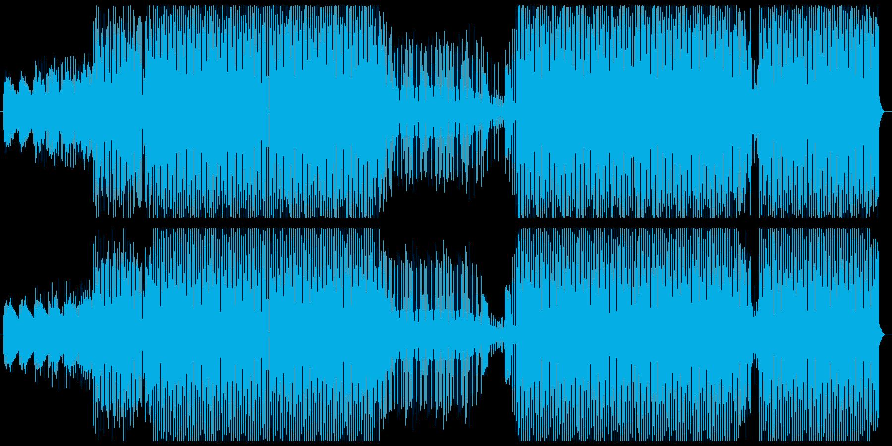 ファション系イベント向けかっこいいテクノの再生済みの波形