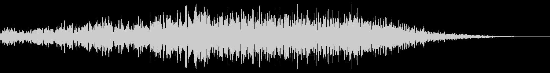 ディープブルーシンセライザーの未再生の波形