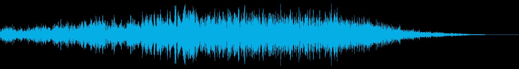 ディープブルーシンセライザーの再生済みの波形