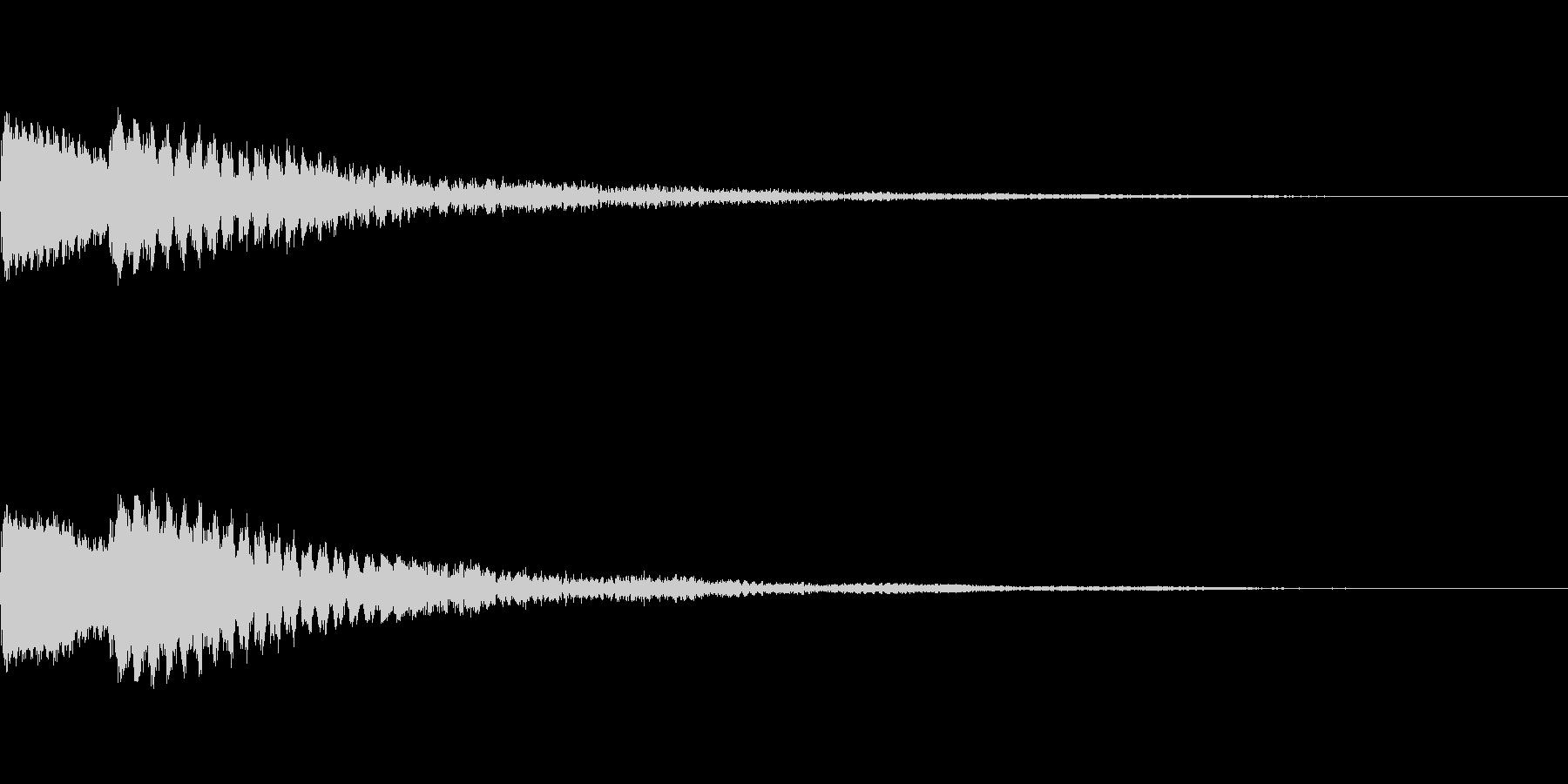 ポーン 瞑想・幻想的な通知音2の未再生の波形