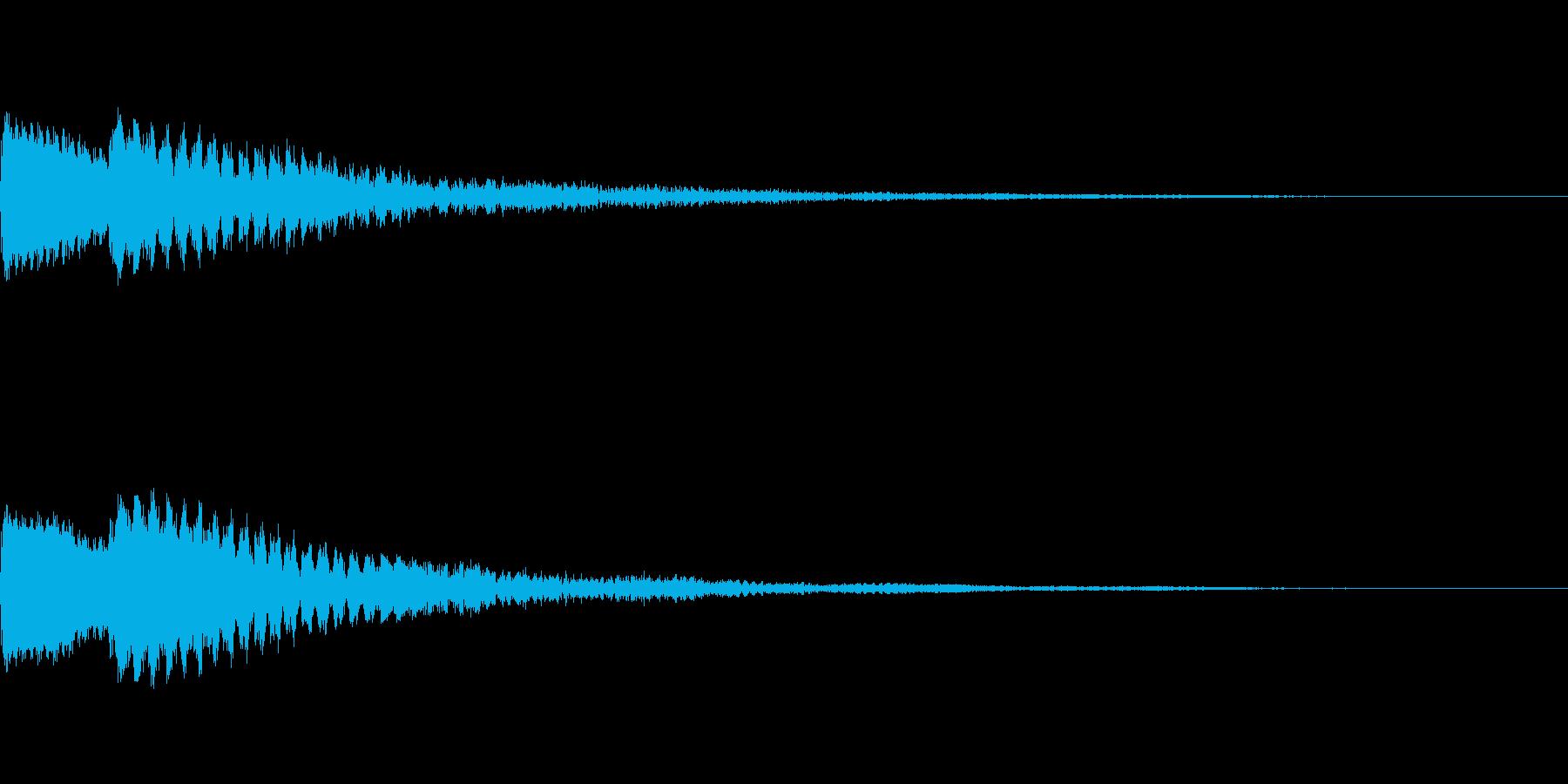 ポーン 瞑想・幻想的な通知音2の再生済みの波形