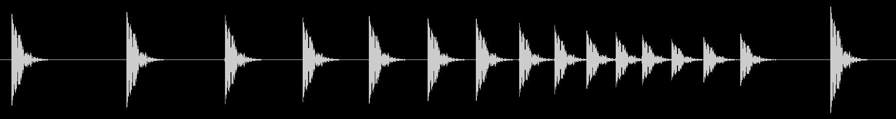 拍子木03-5の未再生の波形
