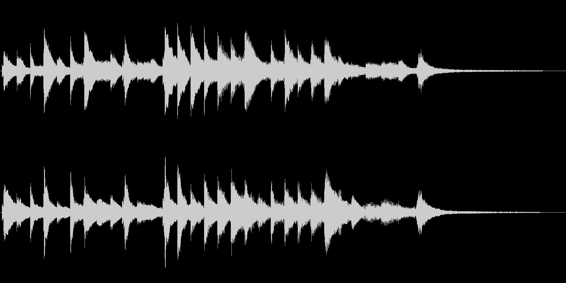 ピアノの優しく穏やかなジングルの未再生の波形