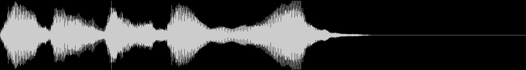 優雅なサウンドの場面転換ジングルです。の未再生の波形