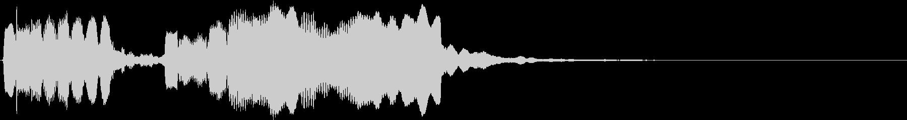 ホラーなリコーダー トッカータとフーガの未再生の波形