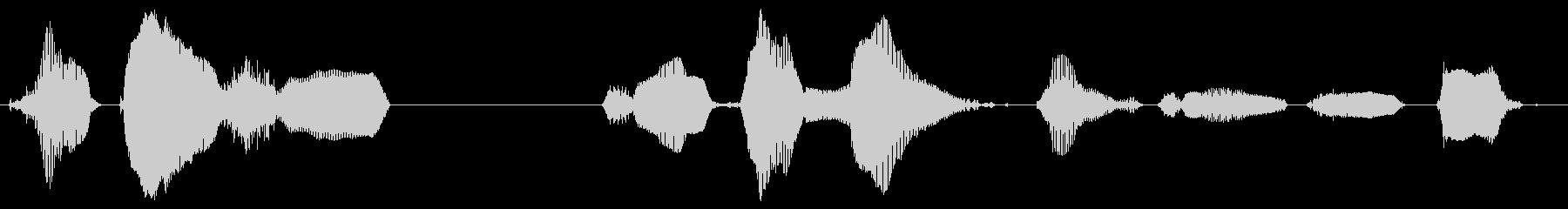 【中国語】並んでゆっくり進んでくださいの未再生の波形