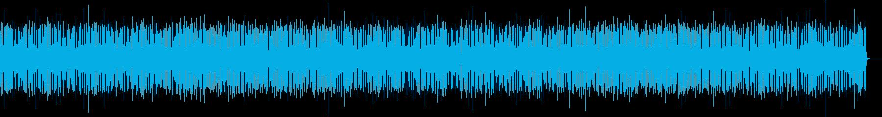 アメリカンでお洒落なブルースBGMの再生済みの波形