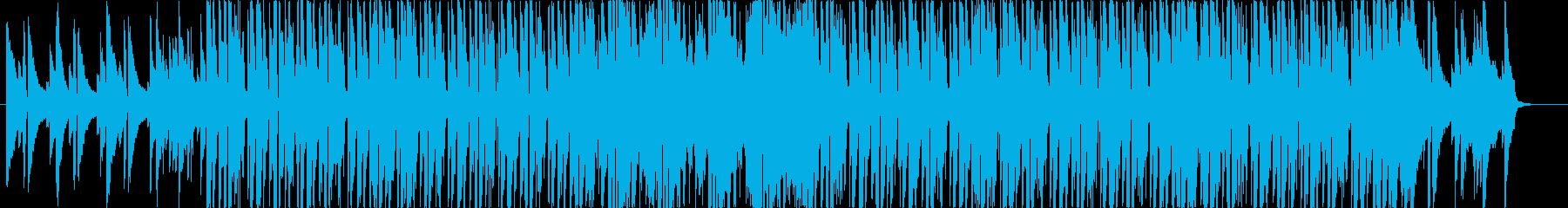 クラブ+ジャズピアノのお洒落な曲の再生済みの波形