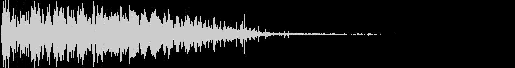 バッテリーラム:シングルインパクト...の未再生の波形