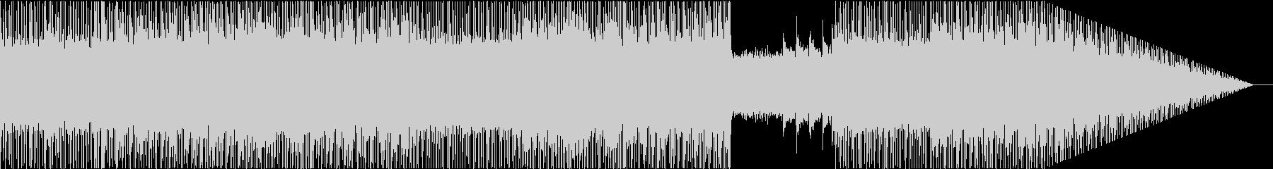 ポップなメロディとシューゲイザー風オケの未再生の波形