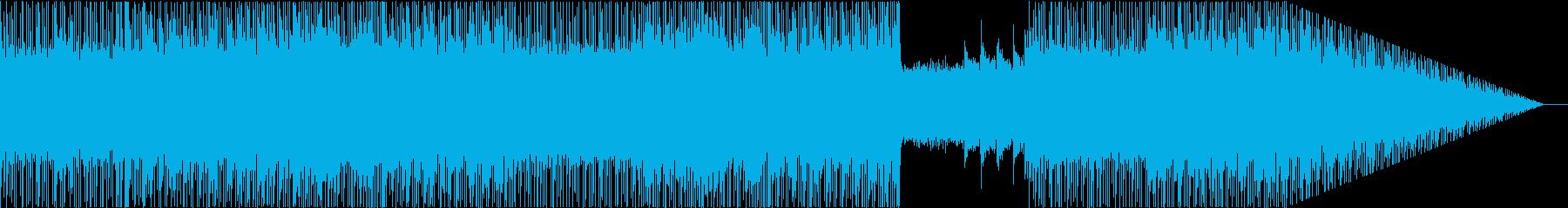 ポップなメロディとシューゲイザー風オケの再生済みの波形