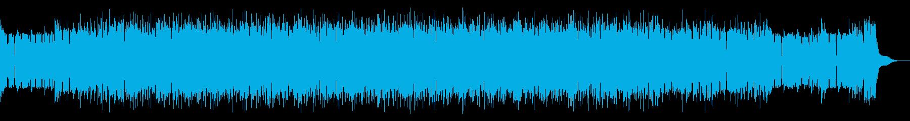 少しダークでアグレッシブなBGMの再生済みの波形