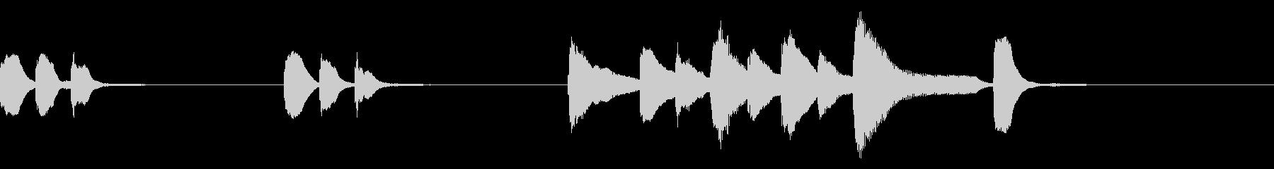 アイキャッチ、ジングル向けピアノソロの未再生の波形