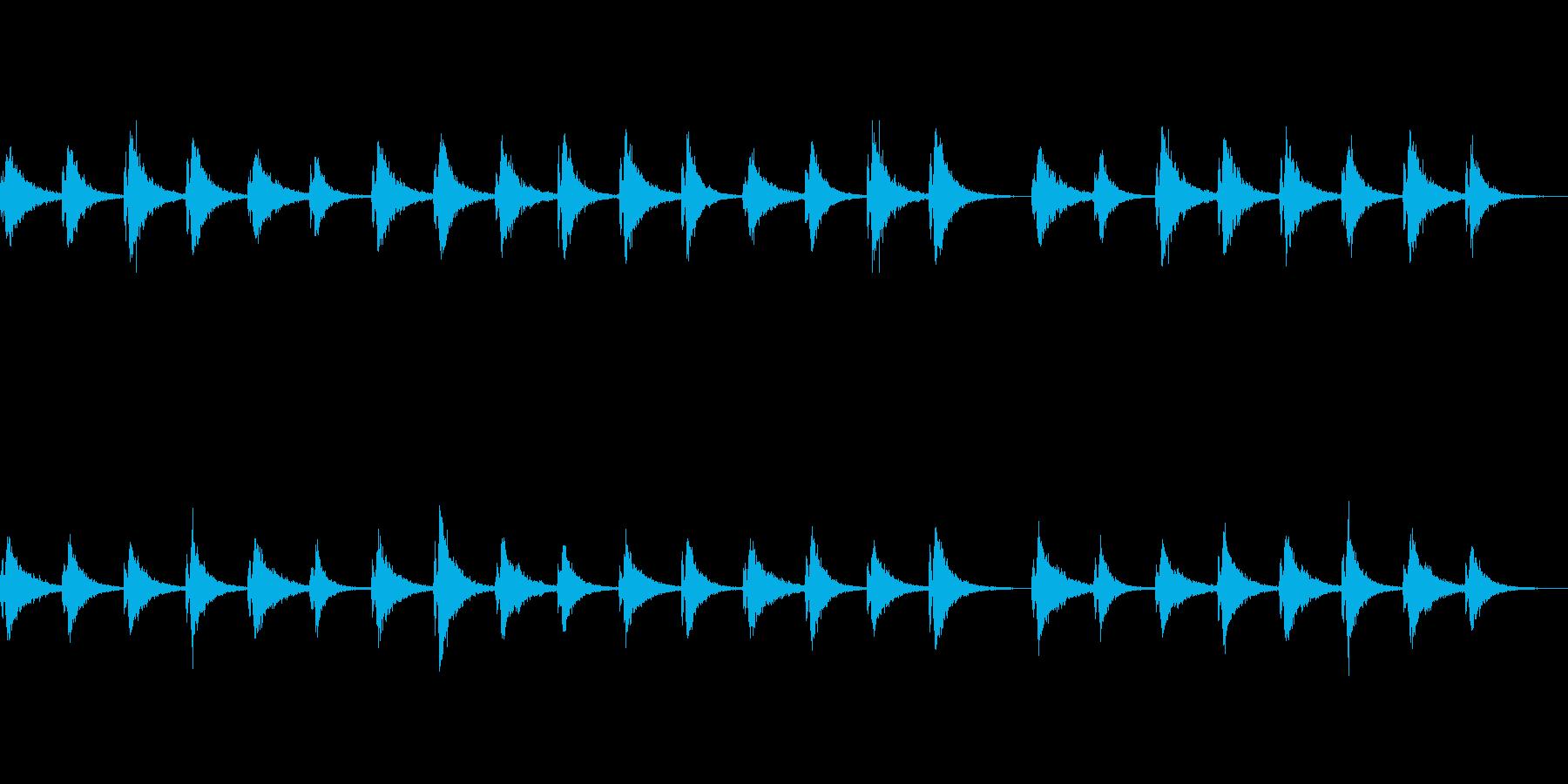 不気味な残響音の再生済みの波形