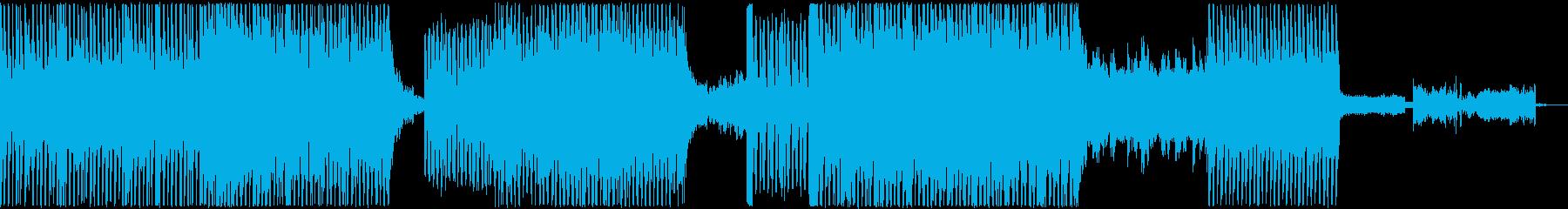 ダークでクールなBGMの再生済みの波形