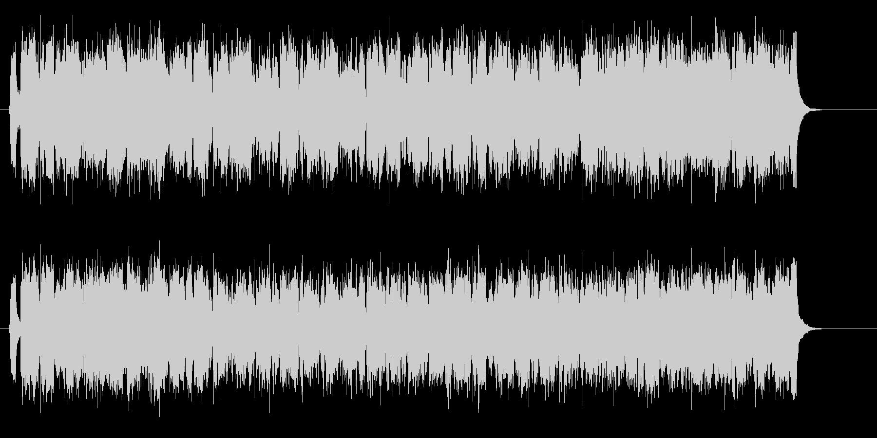 激しく疾走感のあるテクノ音楽の未再生の波形