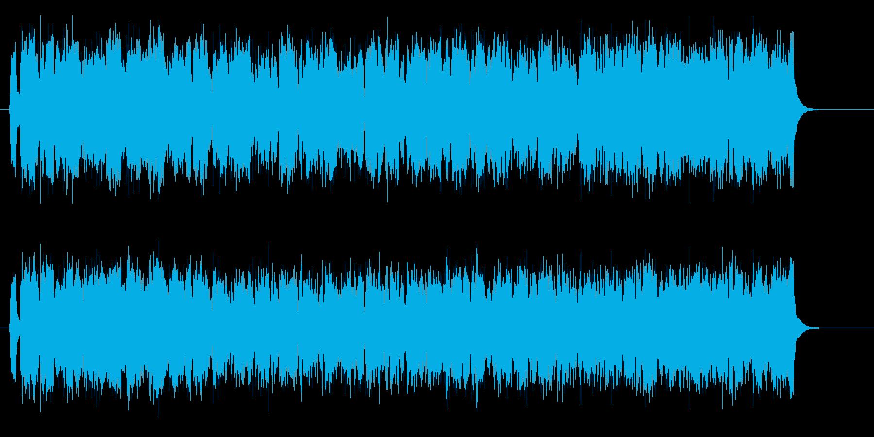 激しく疾走感のあるテクノ音楽の再生済みの波形