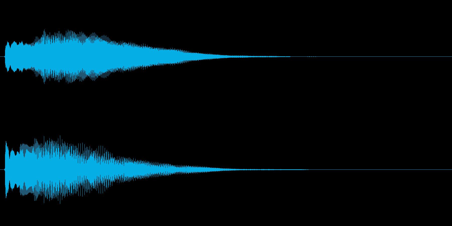 キラキラしたベルの下降音3の再生済みの波形