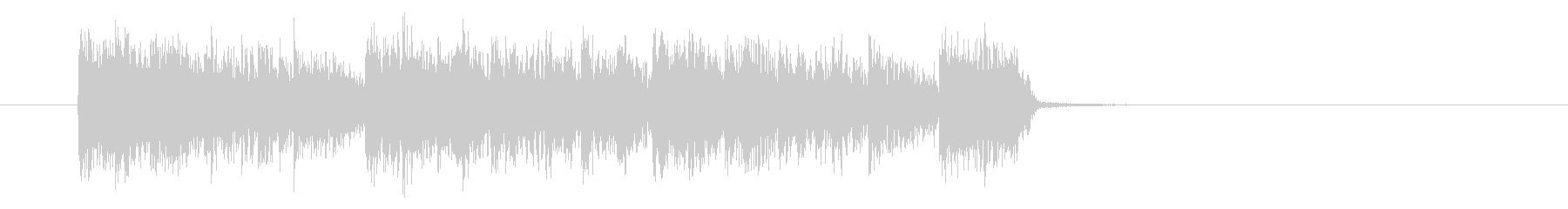 ドキドキ感と勢いあるギターサウンドの未再生の波形