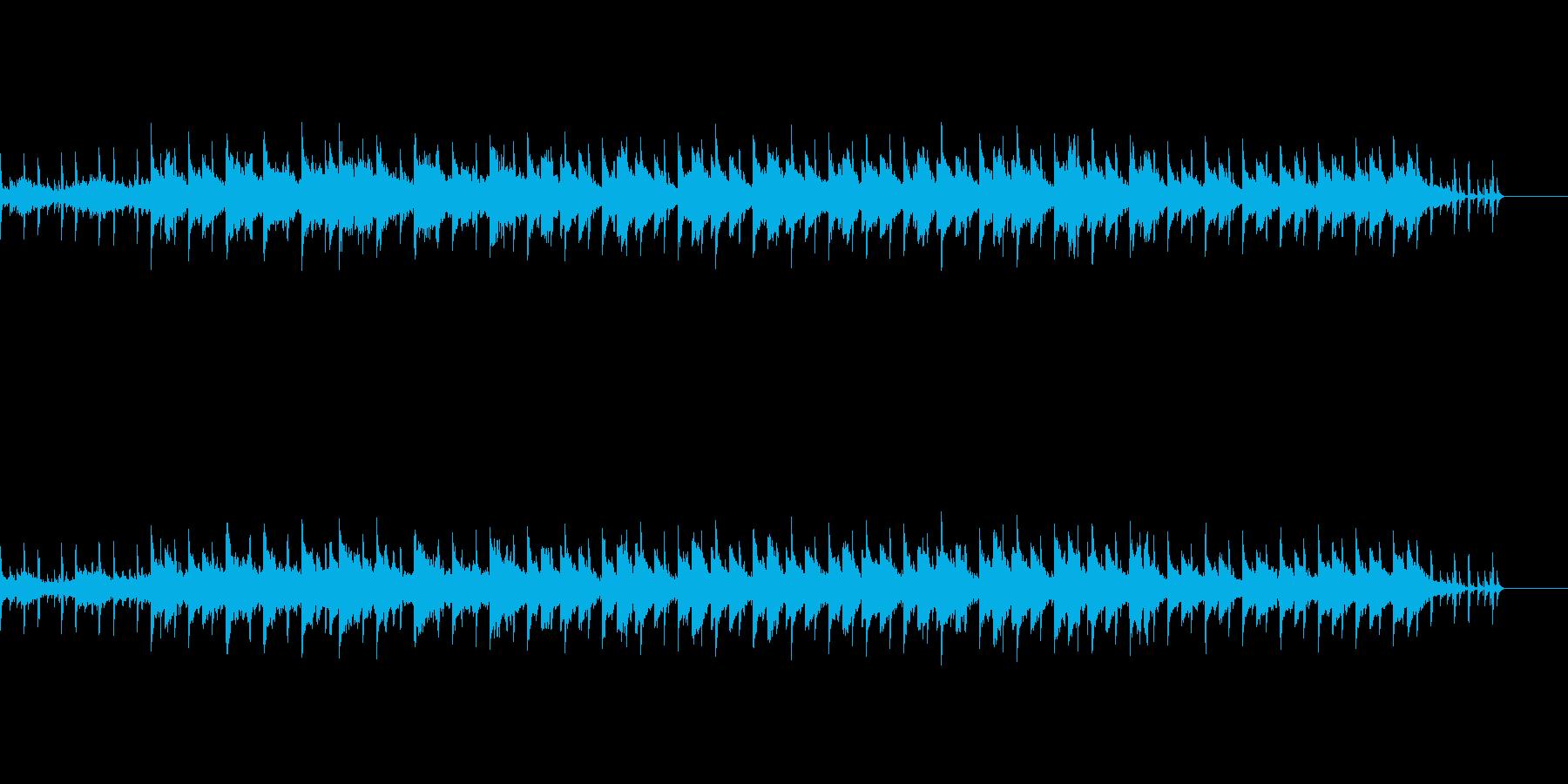 怪しげなシンセサウンドの再生済みの波形