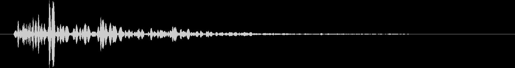 【生録音】野球 キャッチボールの音 3の未再生の波形