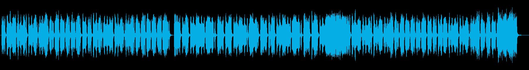 ほのぼのした日常が浮かぶハネた曲の再生済みの波形