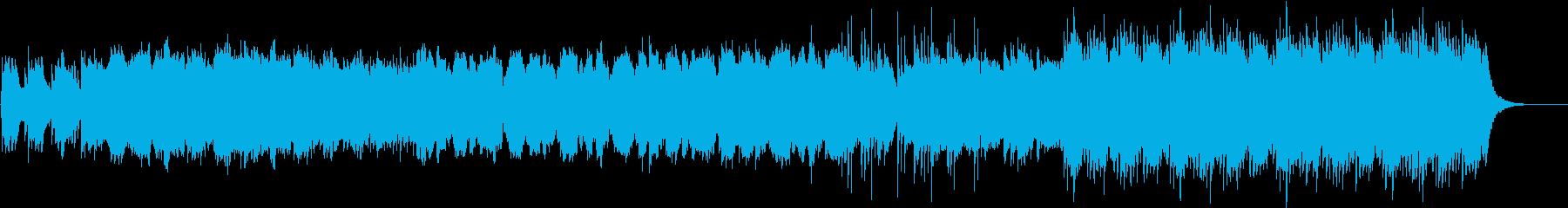 ピアノストリングス和楽器の和風バラードの再生済みの波形