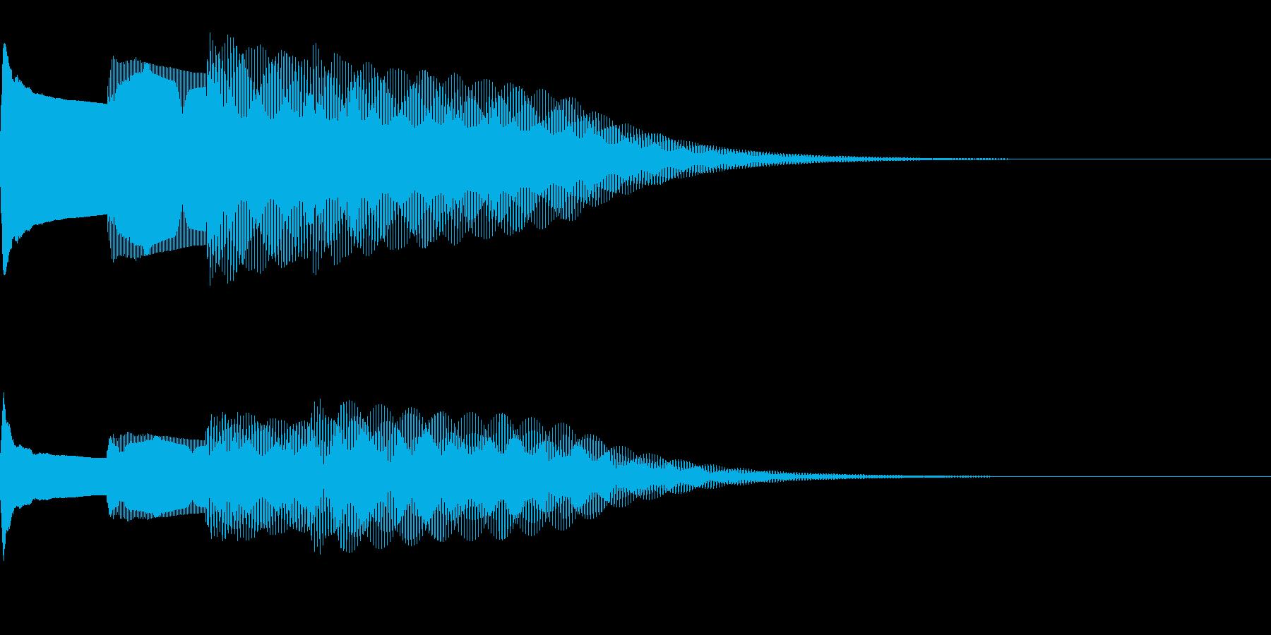 チャイム〜ピンポンパンポーン(下行4秒)の再生済みの波形