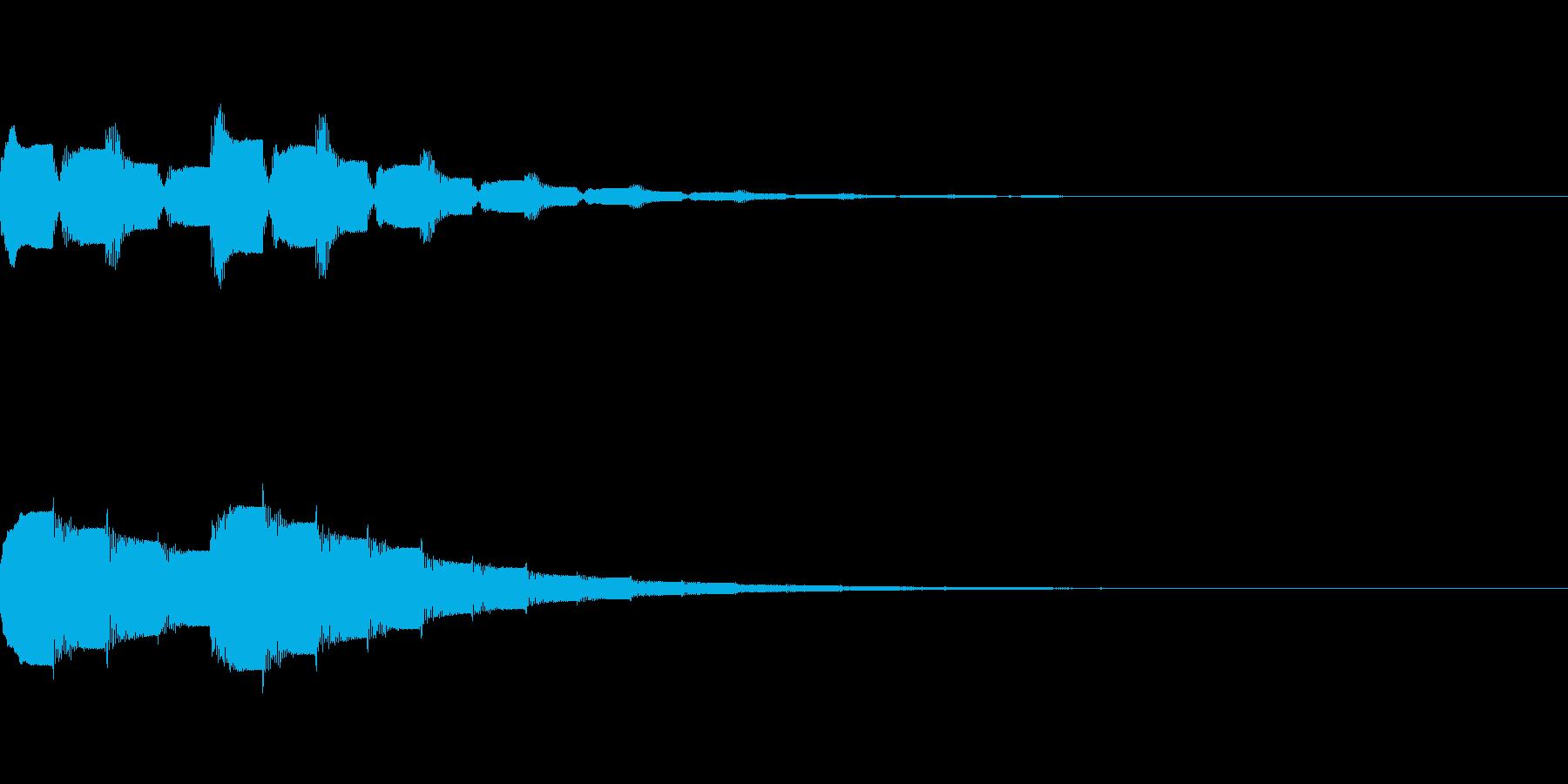ピロピロピロ:コンビニなどの入店音の再生済みの波形