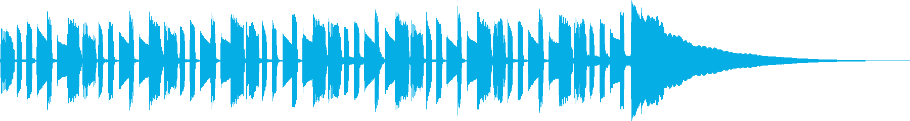 エレキギターによる美しいインストの再生済みの波形