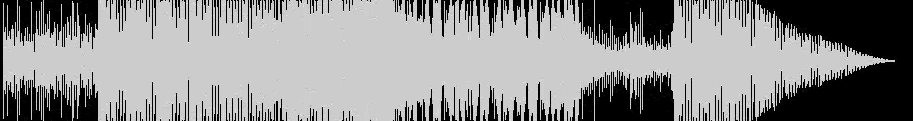 ピアノとシンセが綺麗な透明感のあるBGMの未再生の波形