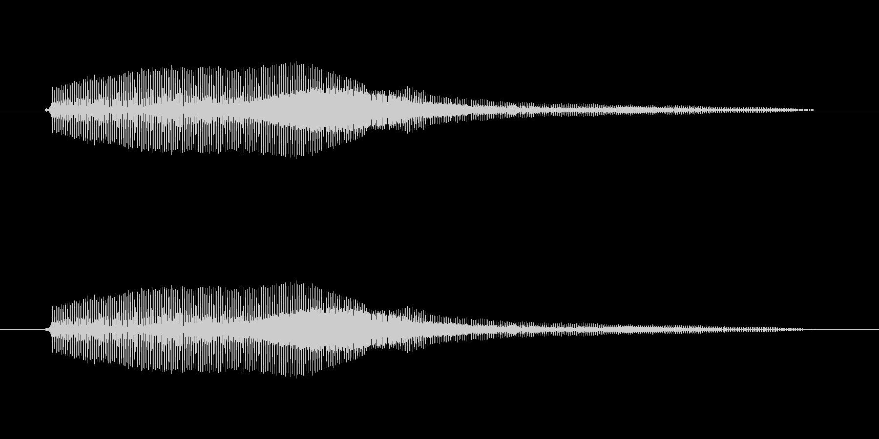 みゅー【鳴き声・子猫など】の未再生の波形