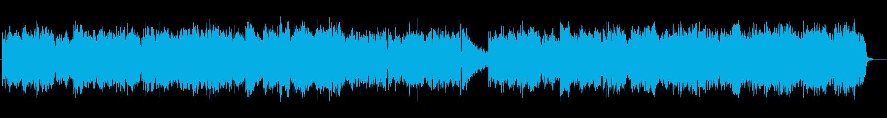 優しく透明感のあるシンセサイザーサウンドの再生済みの波形