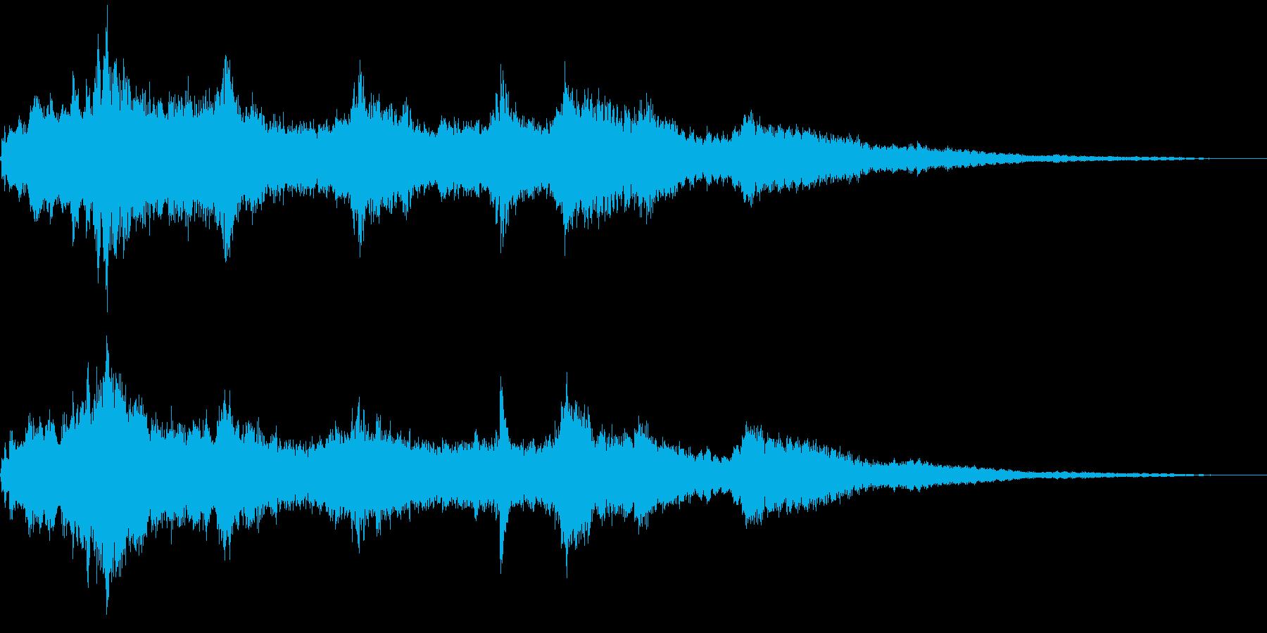 ウインドチャイム1の再生済みの波形