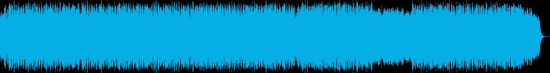 ほのぼの明るく前向きな笛のヒーリング音楽の再生済みの波形