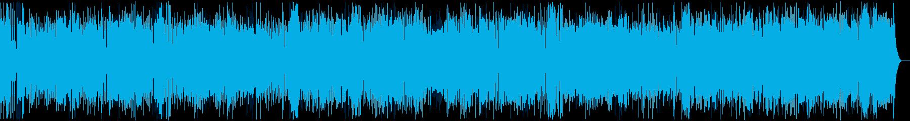 ドタバタしたコミカルな楽曲の再生済みの波形