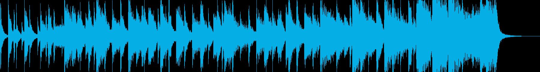スタイリッシュな情報系番組サウンドロゴの再生済みの波形