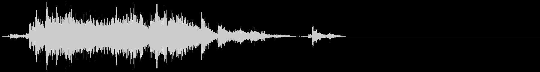 【日常音】神社の鈴の未再生の波形