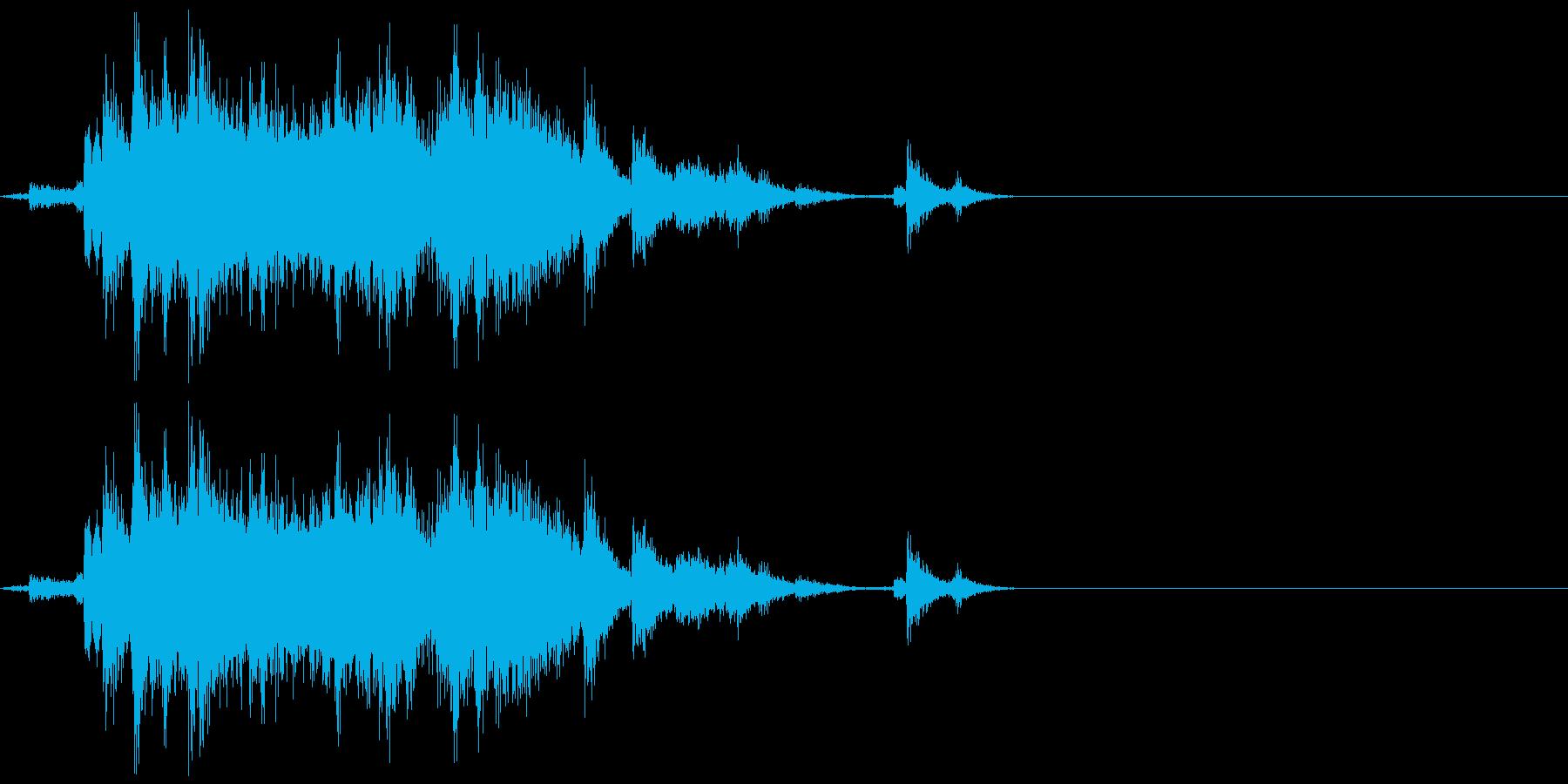 【日常音】神社の鈴の再生済みの波形