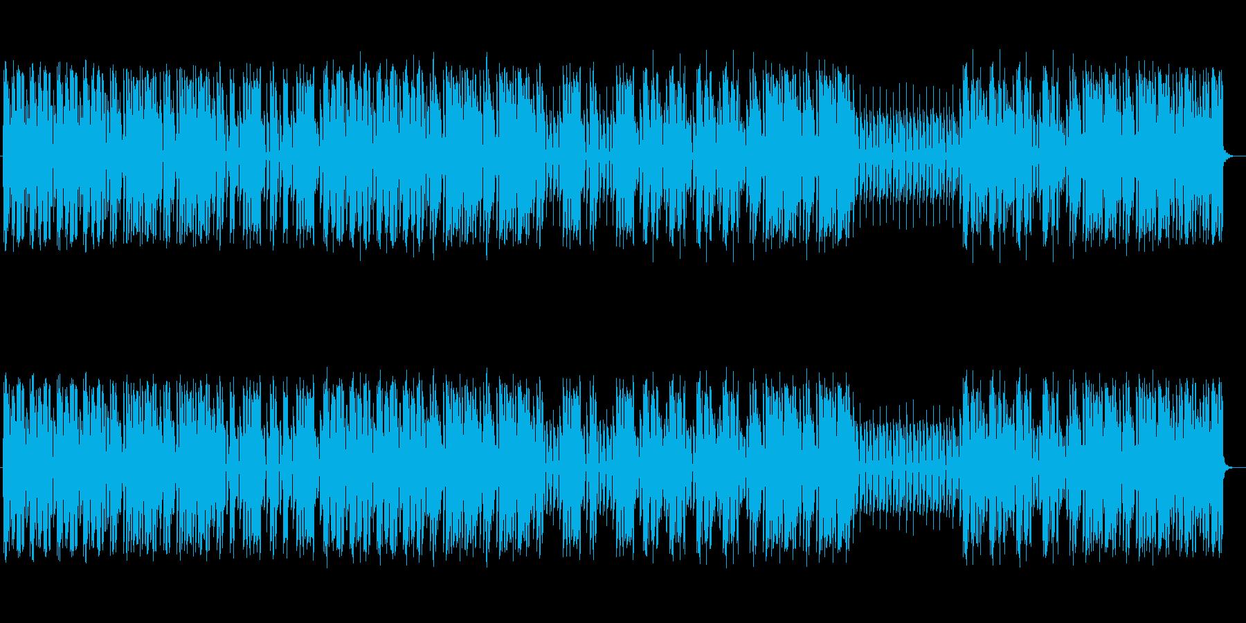 80年代風のテクノポップスの再生済みの波形