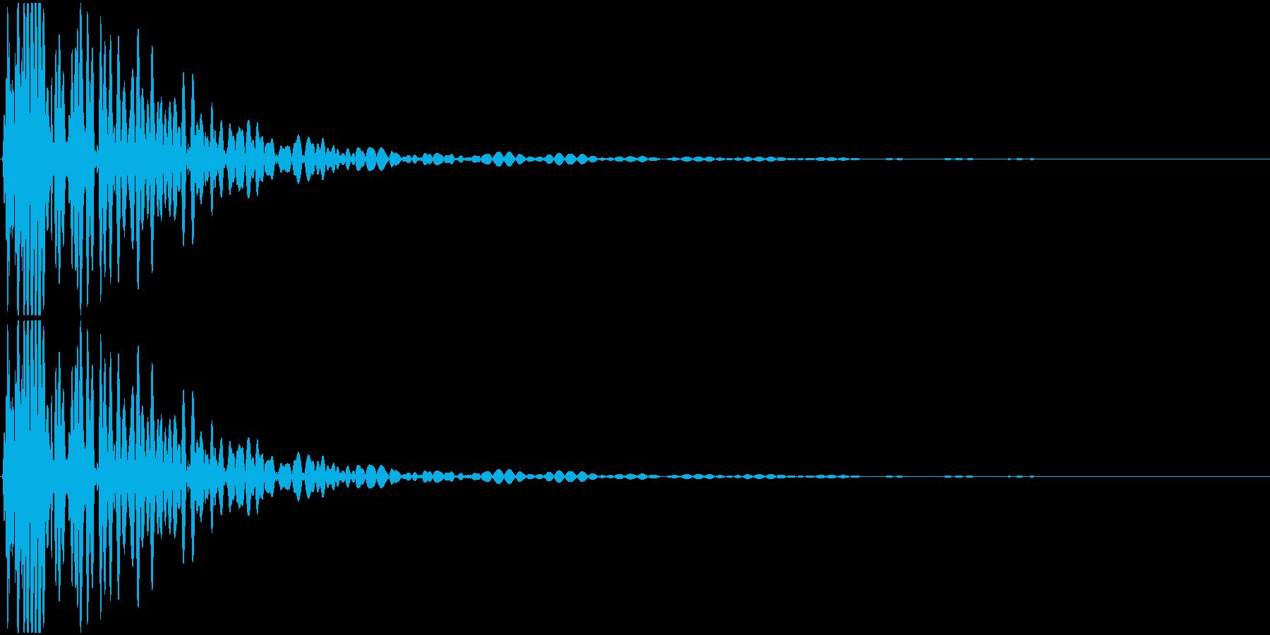 シンセサイザーで作ったキックを元に作成…の再生済みの波形