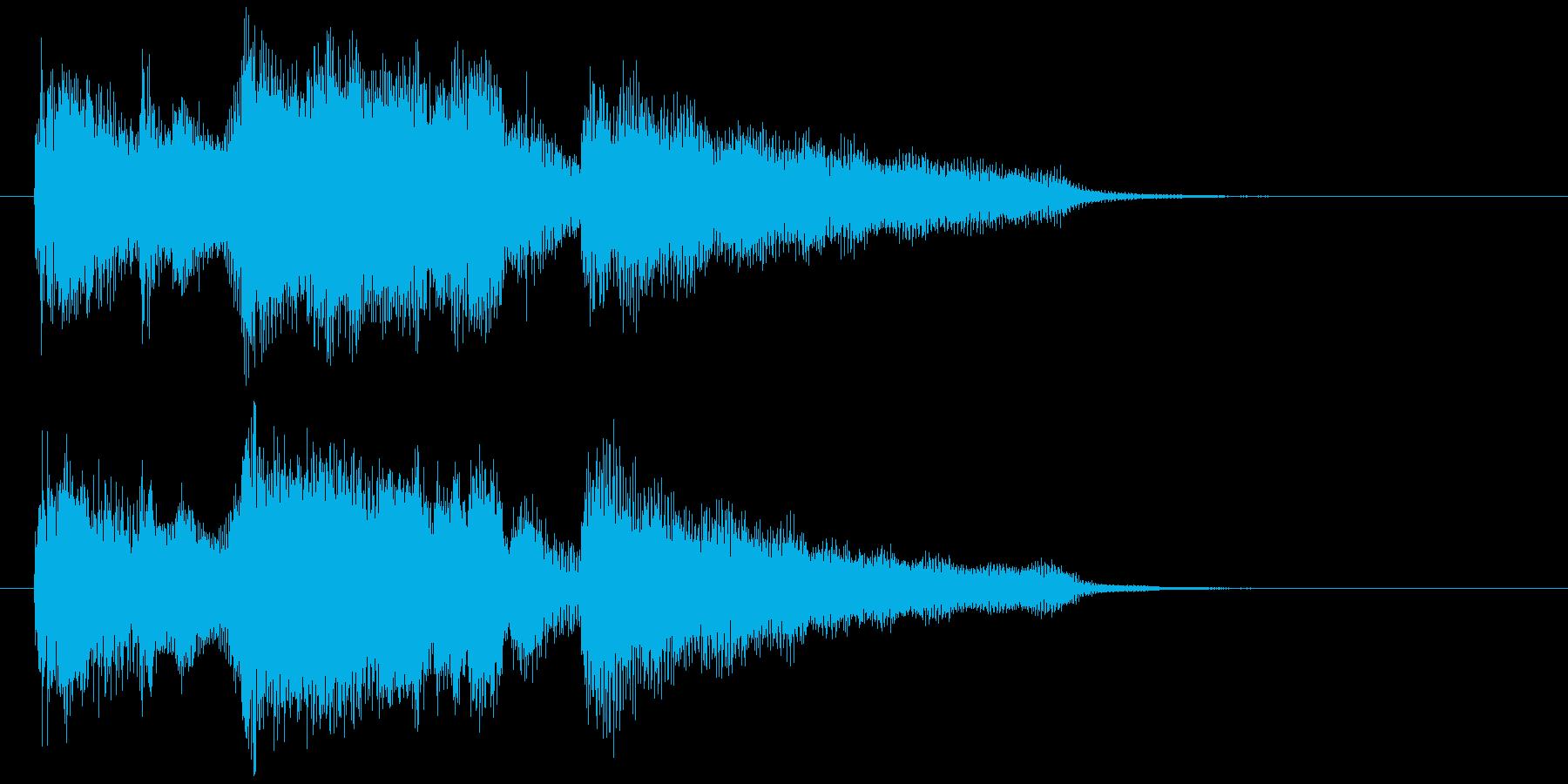 スマートで爽やかなサックスのサウンドロゴの再生済みの波形