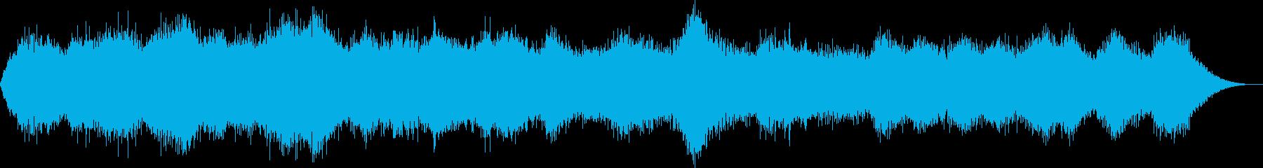 強い風の音の再生済みの波形