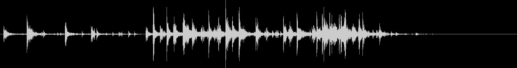 【生録音】米粒(生米)を取り出す音 5の未再生の波形