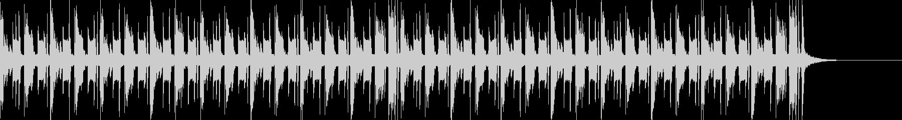 エレクトロニカなジングルの未再生の波形