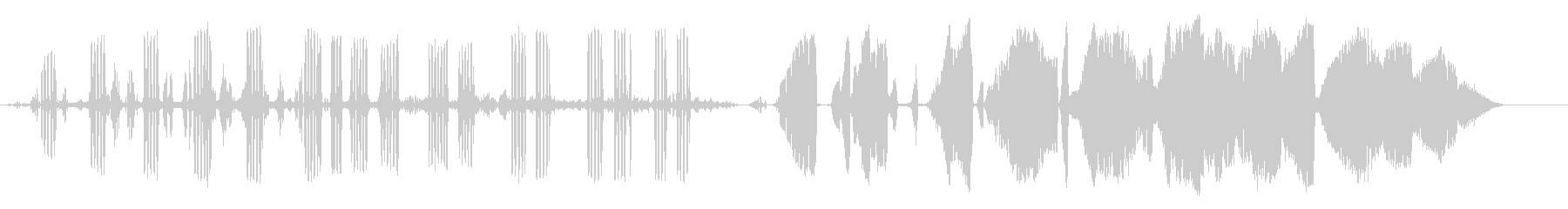 ヒキガエルの未再生の波形