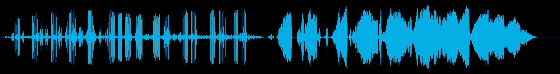ヒキガエルの再生済みの波形