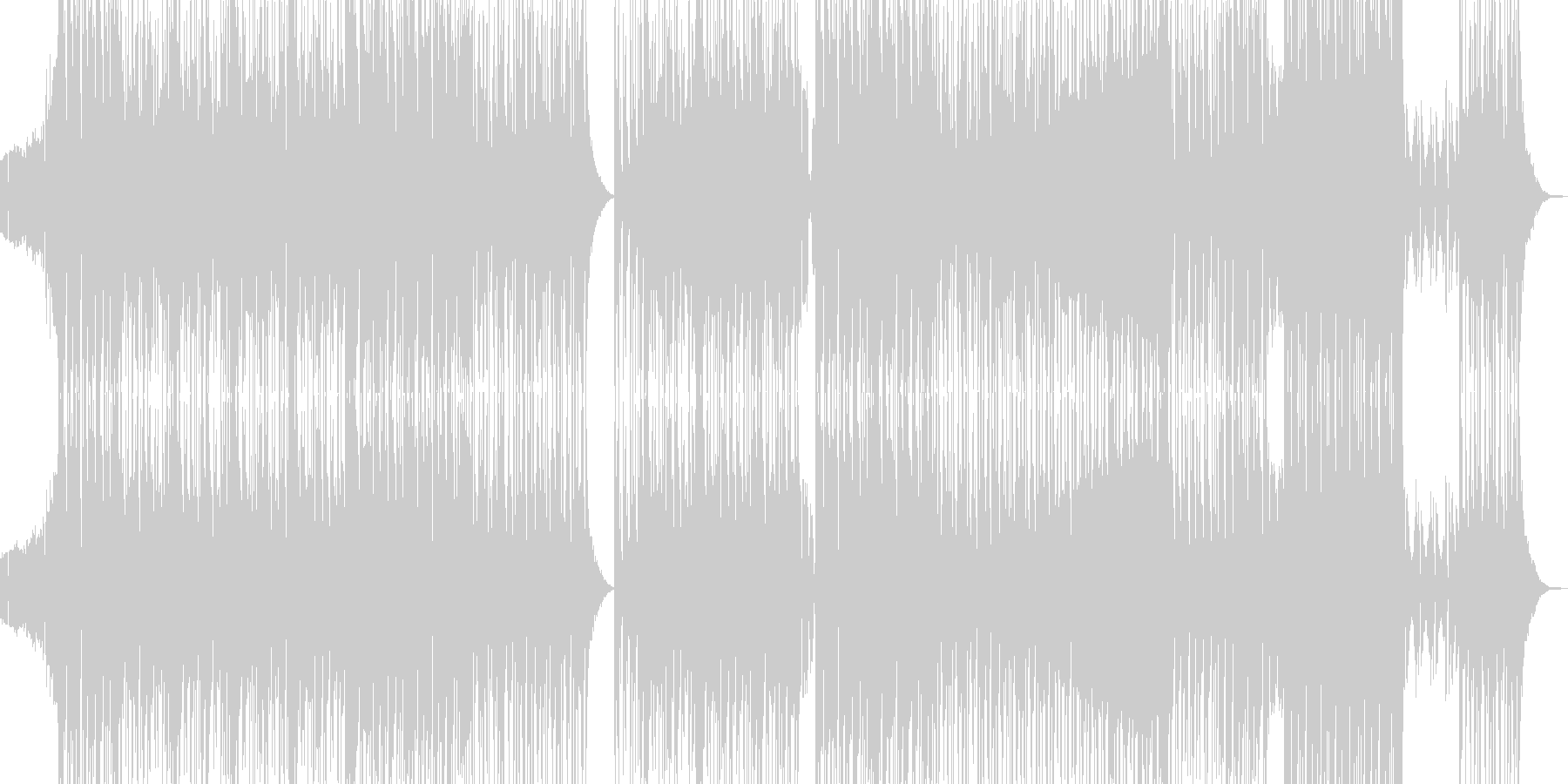 不穏で邪悪なヒップホップ 長尺の未再生の波形