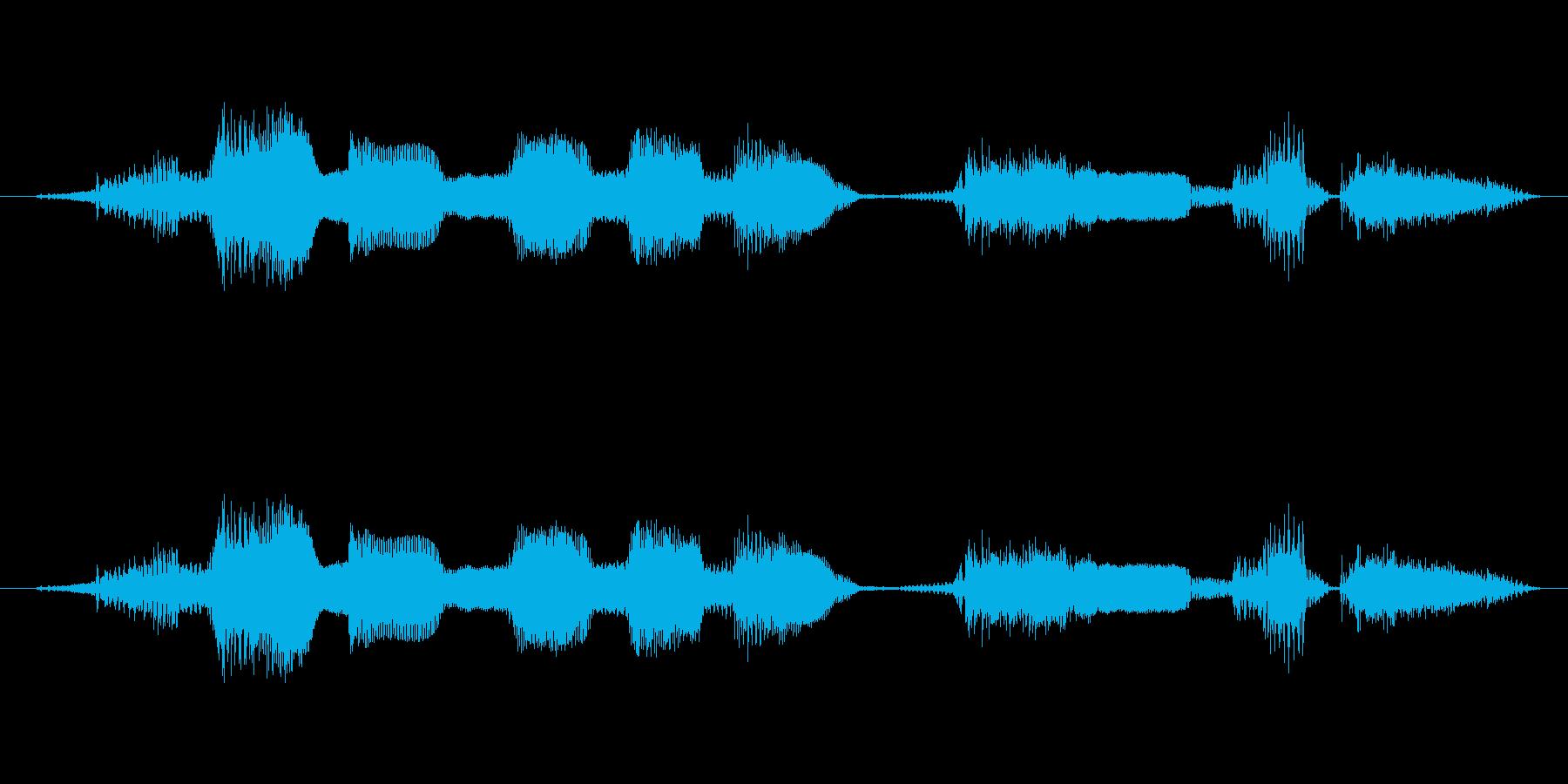 「馬の耳に念仏」ことわざ 力強い男性声の再生済みの波形